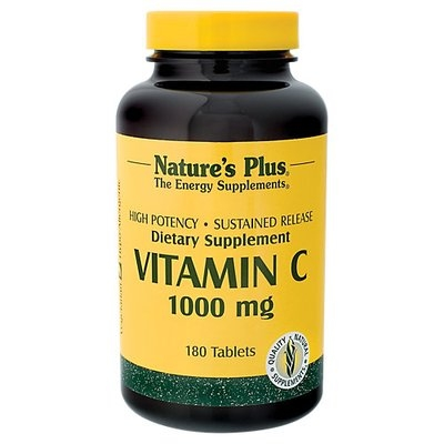 tures Plus Nature's Plus Vitamin C 1000 MG - 180 Tablets - Vitamin C Complex