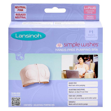 Lansinoh Simple Wishes Hands Free Pumping Bra - Soft Pink - XS-L