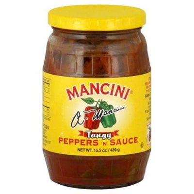 Mancini Tangy Peppers N Sauce, 15. 5 oz, - Pack of 12