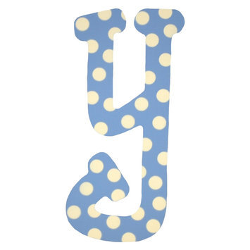 My Baby Sam Inc My Baby Sam, Inc. Blue Polka Dot Letter y