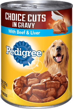 Pedigree® Choice Cuts In Gravy With Beef & Liver Wet Dog Food
