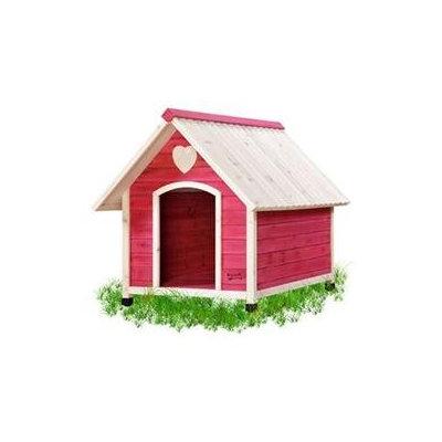 Pet Squeak Pink Arf Frame Dog House - Large