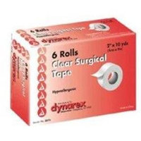 Dynarex Transparent Surgical Tape, Hypoallergenic, 2 x 10 yards, 6/bx