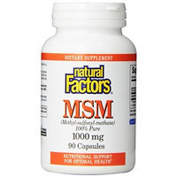 Natural Factors MSM 1000mg Capsules, 90-Count