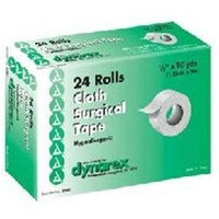 Dynarex Cloth Surgical Tape, Hypoallergenic, 1/2 x 10 yards, 24/bx