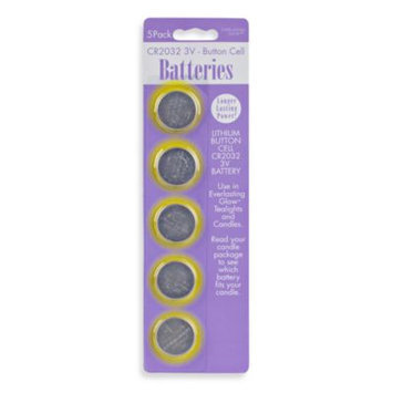 Everlasting Candles Replacement CR2032-3V Batteries (Set of 5)