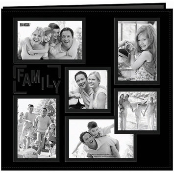 Notions Marketing Baby Collage Frame Sewn Embossed Cover Postbound Album - Pink (12x12