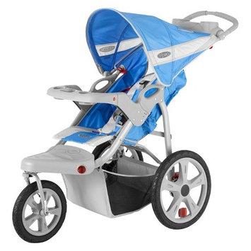 Instep Safari Swivel Wheel Single Jogging Stroller - Green/Gray