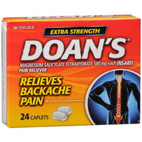 Doan's Extra Strength Pain Reliever, Caplets, 24 ea