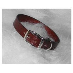 Hamilton Leather LM1 26BU 26-Inch Creased Leather Collar, Burgundy