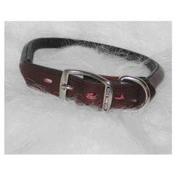 Hamilton Leather - Rolled Leather Collar- Burgundy 1 X 26 - LM4 26BU