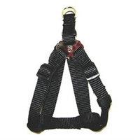 Hamilton Pet Company - Adjustable Easy On Harness- Black .63 X 12-20 - SHA SMBK