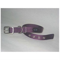 Hamilton Pet Products Double Thick Nylon Deluxe Dog Collar in Purple