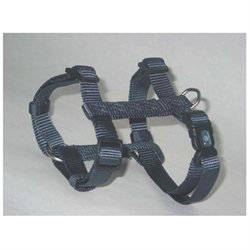 Hamilton Pet Company - Adjustable Dog Harness- Gray Medium - B CFA MDGT