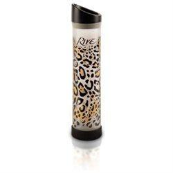 Rive Savoy 16 Oz Leopard Glass Water Bottle