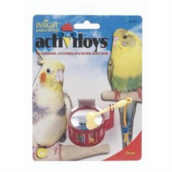 JW PET COMPANY BJW31091 Activitoys Drum Bird Toy