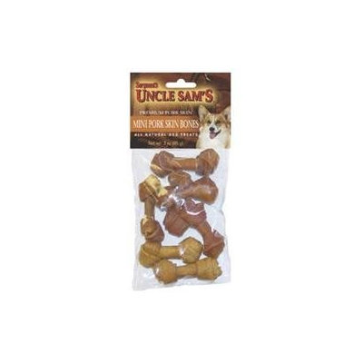 Uncle Sams Mini Pork Skin Bones 3 Ounce 47974 by Sergeant's Pet