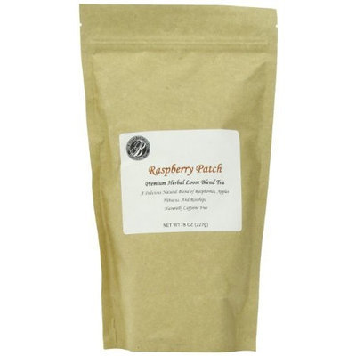 Boston Tea Finest Grade Loose Raspberry Patch Herbal Tea, 8-Ounce Bag