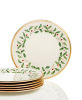 Lenox Holiday Set of 6 Salad Plates