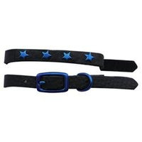 Platinum Pets Genuine Leather Cat and Puppy Collar with Stars