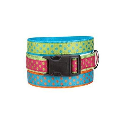 East Side Collection Polka Dot Collar - Raspberry, 14 - 20 in.