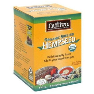 Organic Shelled Hempseed - Box Nutiva 12 (1.1 oz) Packet