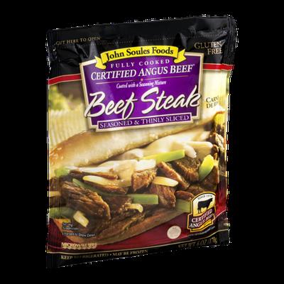 John Soules Foods Certified Angus Beef Steak Seasoned & Thinly Sliced