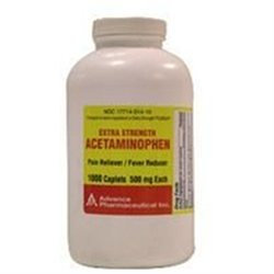 Acetaminophen Pain Reliever Acetaminophen Caplets Extra Strength 500mg -1000 Ea