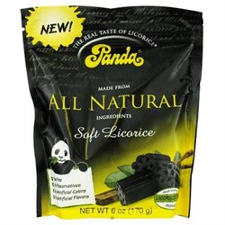 Panda All Natural Soft Black Licorice - 6 oz