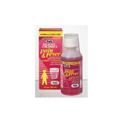 Watson Rugby Labs Children's Pain & Fever Oral Solution Acetaminophen, Cherry, 4 oz, Watson Rugby