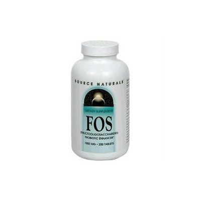 Source Naturals FOS Fructooligosaccharides 1000mg, 200 Tablets