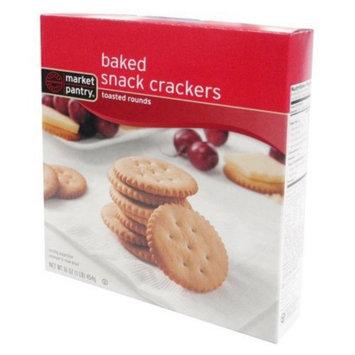 market pantry Market Pantry Toasted Round Baked Crackers 16 oz
