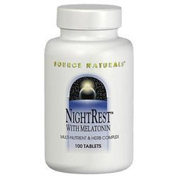 Source Naturals - Night Rest With Melatonin - 50 Tablets