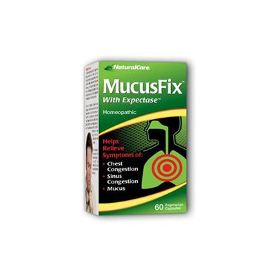Natural Care MucusFix With Expectase - 60 Vegetarian Capsules