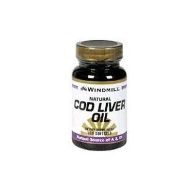 Cod Liver Oil, 100 Softgels, Windmill Health Products