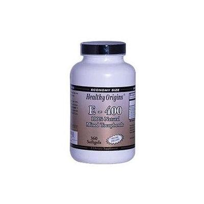Healthy Origins E-400 - 400 IU - 360 Softgels