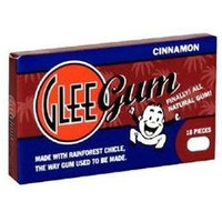 Glee Gum - All Natural Chewing Gum Cinnamon - 18 Pieces