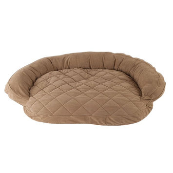 Carolina Pet Company Carolina Pet Co. Microfiber Quilted Bolster Rectangle Pet Bed - 36