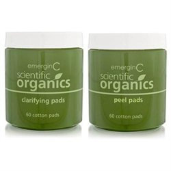 emerginC Scientific Organics At-Home Facial Peel + Clarifying Kit