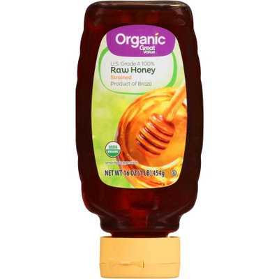 Great Value Organic Raw Honey, 16 oz