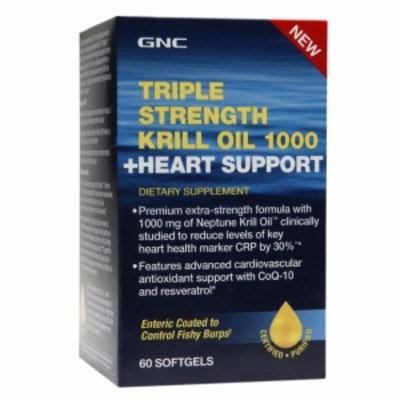 Gnc GNC Triple Strength Krill Oil 1000 + Heart Support