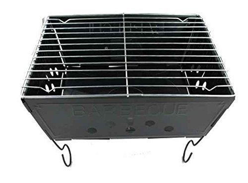 Kole Imports Outdoor Picnic Camping Spur Backyard Fun Cooking Portable Barbecue Grill Trunks Pack of 4