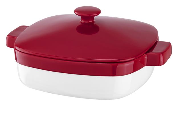 KitchenAid 2.8 Quart Streamline Ceramic Casserole Dish - Empire Red