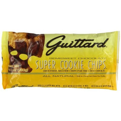 E Guittard Super Cookie Chocolate Chip, 10-Ounce (Pack of 4)