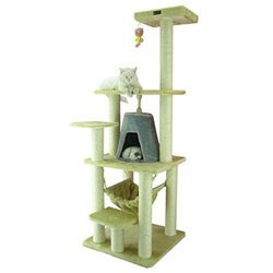 Armarkat Cat Tree - Beige with Silver Gray Condo