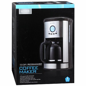 Living Solutions Digital Coffee Maker 12 Cup