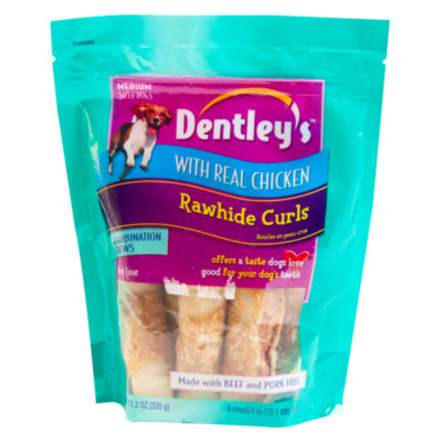 Dentley's Rawhide Curls Dog Treats