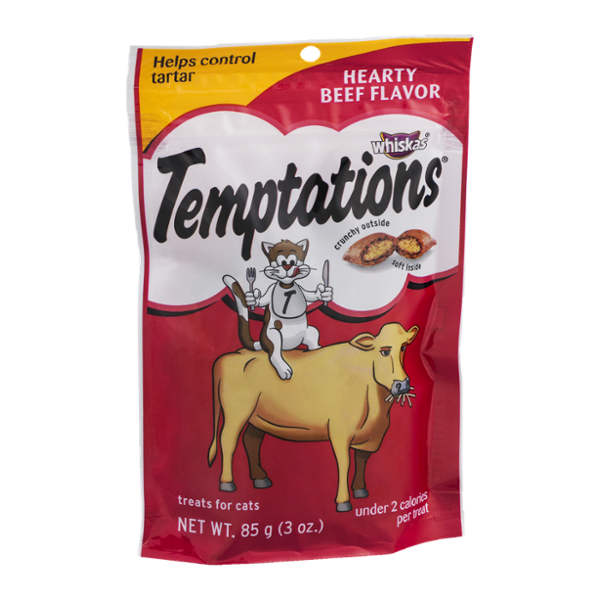 Whiskas Temptations Cat Treats Hearty Beef Flavor