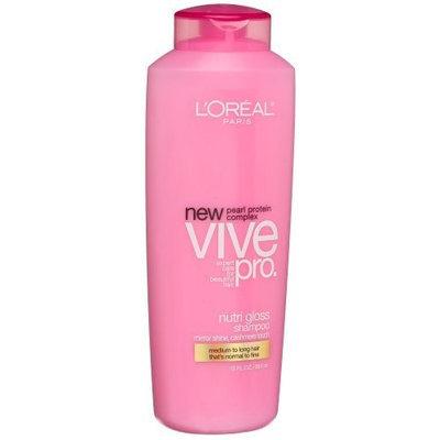 L'Oréal Vive Pro Nutri Gloss Shampoo for Normal Hair , 13-Ounce Bottle