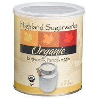 Highland Sugarworks Organic Buttermilk Pancake Mix, 16-Ounce Canister (Pack of 4)